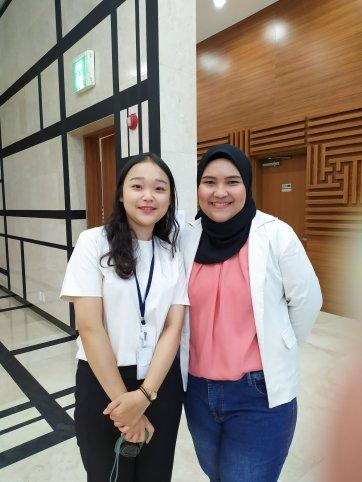 With Miss Kim Hee Gi
